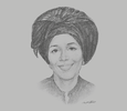 Sketch of Françoise Mariame Koné Bédié, CEO, Professional Group of Exporters of Coffee and Cocoa