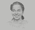 Sketch of Asta-Rosa Cissé, Managing Director, Abidjan Terminal/Bolloré Transport & Logistics
