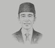Sketch of President Joko Widodo