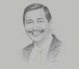 Sketch of Luhut Pandjaitan, Coordinating Minister for Maritime Affairs and Investment