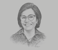 Sketch of Sri Mulyani, Minister of Finance