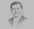 Sketch of Batara Sianturi, CEO, Citibank Indonesia; and Chairperson, International Banks Association of Indonesia