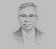 Sketch of Wimboh Santoso, Chairman, Financial Services Authority (OJK)