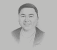 Sketch of Kiwi Aliwarga, Founder and Executive Chairman, UMG Idealab