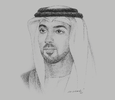 Sketch of Sheikh Mansour bin Zayed Al Nahyan, Deputy Prime Minister and Minister of Presidential Affairs