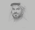 Sketch of Mohamed Helal Almheiri, Director-General, Abu Dhabi Chamber of Commerce and Industry (ADCCI)