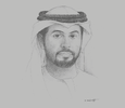 Sketch of Khalifa Salem Al Mansouri, Chief Executive, Abu Dhabi Securities Exchange (ADX)