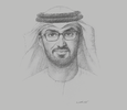 Sketch of Sultan Al Jaber, UAE Minister of Industry and Advanced Technology; and Group CEO, Abu Dhabi National Oil Company (ADNOC)