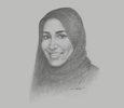 Sketch of Shaikha Salem Al Dhaheri, Secretary-General, Environment Agency - Abu Dhabi