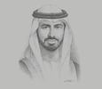 Sketch of Omar Al Olama, Minister of State for Artificial Intelligence, Digital Economy and Teleworking Applications