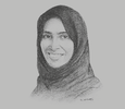 Sketch of Maryam Eid AlMheiri, Vice-Chair, twofour54; and CEO, Media Zone Authority – Abu Dhabi