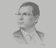 Sketch of Mohammed Omran, Chairman, Financial Regulatory Authority (FRA)