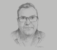 Sketch of Jeremy Norton, General Manager, Tower Insurance