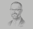 Sketch of Keiran Wulff, Managing Director, Oil Search