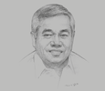Sketch of Ramon M Lopez, Secretary of Trade and Industry
