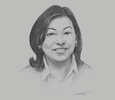 Sketch of Aileen Clemente, Chairman and President, Rajah Travel