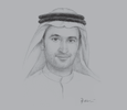 Sketch of Abdullah Rashed Al Abdooli, Managing Director, Al Marjan Island