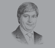Sketch of Adam Habib, Vice Chancellor, University of Witwatersrand