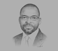Sketch of Eric Amoussouga, CEO for Francophone Africa, General Electric