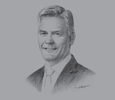 Sketch of Andre de Ruyter, CEO, Nampak