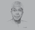 Sketch of Audu Ogbeh, Minister of Agriculture and Rural Development