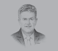 Sketch of Cliff Brand, General Manager, RAK Ports Group