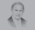 Sketch of  Colm McLoughlin, Executive Vice-Chairman and CEO, Dubai Duty Free