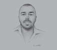 Sketch of Dominic Avenell, Managing Director, Avenell Engineering Systems