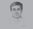 Sketch of Dr Myung-Whun Sung, CEO, Sheikh Khalifa Specialty Hospital (SKSH)