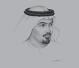 Sketch of Helal Saeed Almarri, Director-General, Department of Tourism and Commerce Marketing (DTCM)