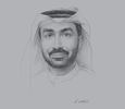 Sketch of  Hesham Abdullah Al Qassim, CEO, wasl Asset Management Group