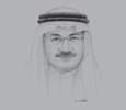 Sketch of Humaid Al Qatami, Chairman and Director-General, Dubai Health Authority (DHA)