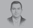 Sketch of Imad Fakhoury, Minister of Planning and International Cooperation