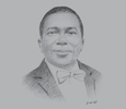 Sketch of Isaac Folorunso Adewole, Minister of Health