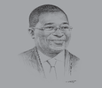 Sketch of Ivan Avereyireh, President, Ghana Insurance Association (GIA)