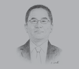 Sketch of James Lau, Managing Director, Rimbunan Hijau (PNG) Group