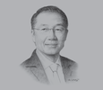 Sketch of im Yong Kim, President, World Bank Group