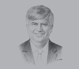 Sketch of John Leahy, Partner at Leahy Lewin Lowing Sullivan