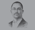 Sketch of Jonathan Tawiah, Managing Director, Ostec