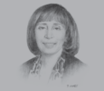 Sketch of Lina Shbeeb, Former Minister of Transport