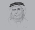 Sketch of Mattar Al Tayer, Director-General and Chairman of the Board of Executive Directors, Roads and Transport Authority (RTA)