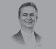 Sketch of Mike Brown, CEO, Nedbank