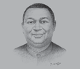 Sketch of Mohammed Sanusi Barkindo, Secretary-General, Organisation of the Petroleum Exporting Countries (OPEC)