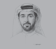 Sketch of Mubarak Rashed Al Mansoori, Governor, Central Bank of the UAE