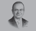 Sketch of Nemeh Sabbagh, CEO, Arab Bank