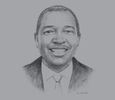 Sketch of Norman Mbazima, CEO, Kumba Iron Ore