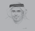 Sketch of Obaid Humaid Al Tayer, Minister of State for Financial Affairs