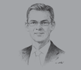 Sketch of Peder Sondergaard, CEO of Africa and Middle East Region, APM Terminals