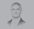Sketch of  Peter England, CEO, National Bank of Ras Al Khaimah