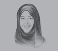Sketch of Reem Al Hashimy, UAE Minister of State for International Cooperation; and Director General, Expo 2020 Dubai